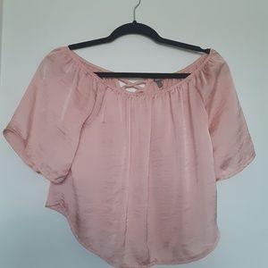 Tops - Pink Off the Shoulder Top